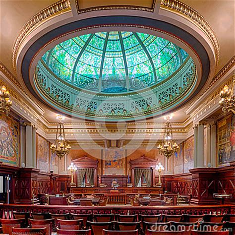 Harrisburg Pa Court Records Pennsylvania State Supreme Court Chamber Stock Images