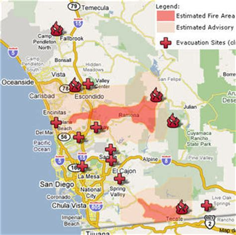 southern california fires today map gis october 2007