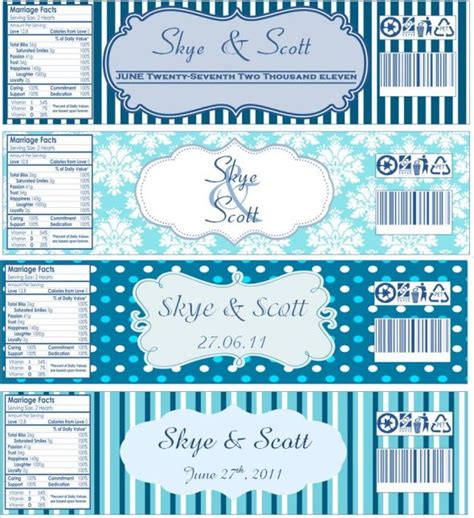 free water label template water bottle labels weddingbee photo gallery