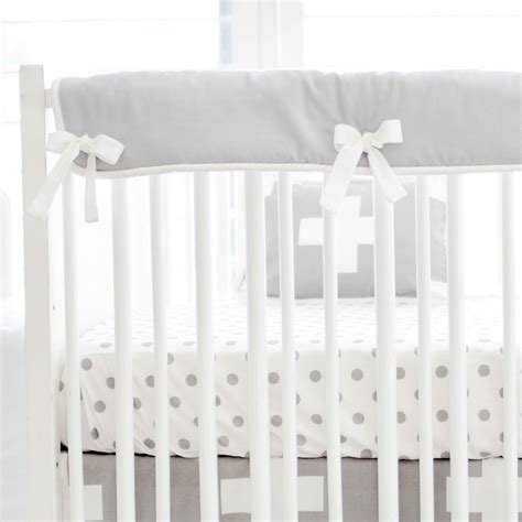 gray swiss cross crib rail cover by new arrivals inc