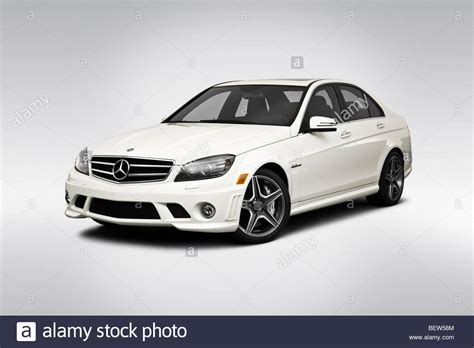 mercedes c class amg white 2010 mercedes c class c63 amg in white front angle