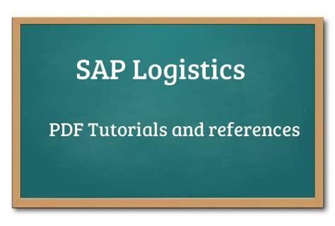 tutorial sap logistics sap logistics tutorials functional module lo training