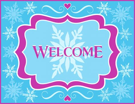 frozen printable welcome free frozen party printables from printabelle catch my party