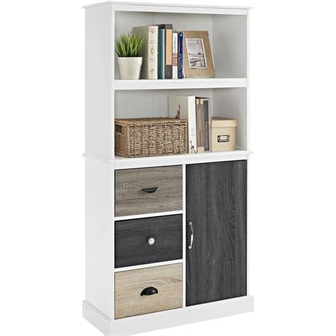 Corner Bookshelf With Drawers by Bookshelf Outstanding Bookcases With Doors And Drawers