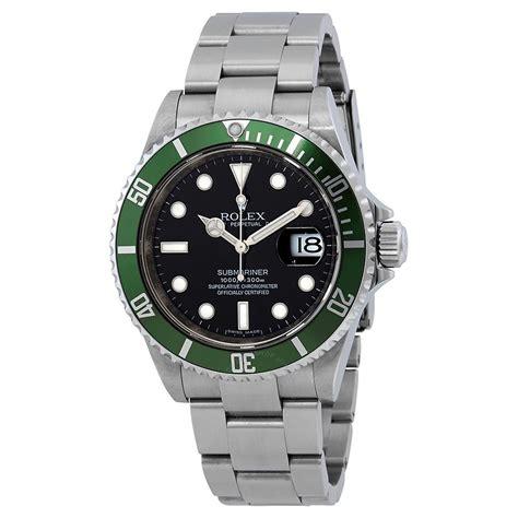 Rolex Submarine 2 pre owned rolex submariner green bezel oyster bracelet