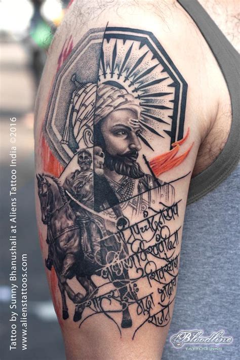 chatrapati shivaji tattoo by sunny bhanushali at aliens