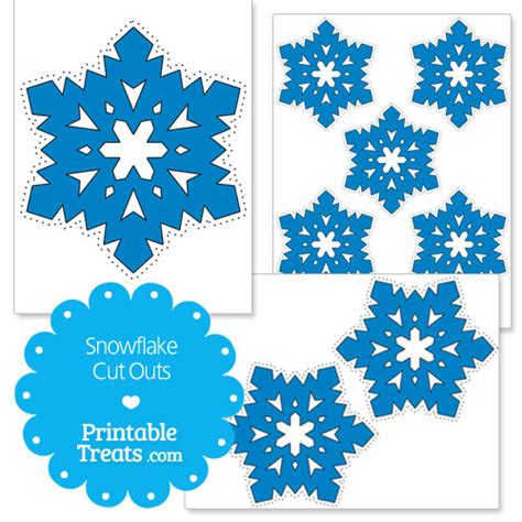 Printable Blue Snowflakes | printable dark blue snowflake cut outs printable treats com