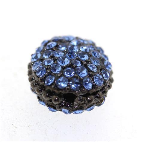 rhinestone beading blue encrusted rhinestone bead