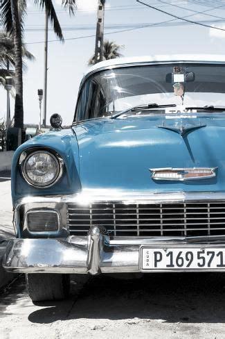 cuba fuerte collection blue chevy classic car