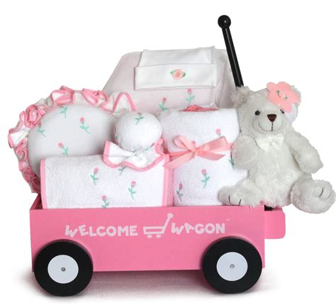 Baby Shower Welcome Wagon by Baby Gift Pretty In Pink Welcome Wagon