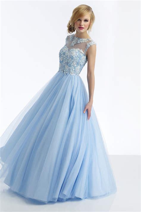Cinderella Soft Blue Dress 2014 beautiful scoop a line prom dress beaded floor length