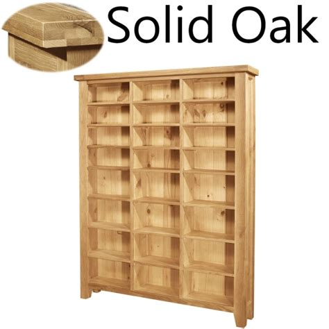 Oak Cd Storage Cabinet Lyon Solid Oak Furniture Large Cd Dvd Media Storage Cabinet Rack Shelves Ebay