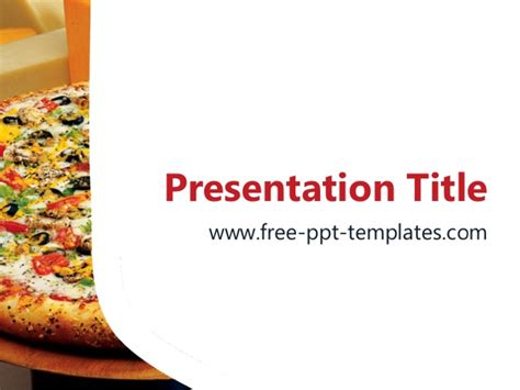 pizza template free pizza ppt template