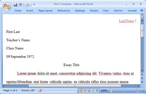 mla essay how to format the mla essay in ms word 2010 heading and