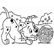 Disegni Da Colorare Per Pasqua Il Cagnolino Con Ovetto Di