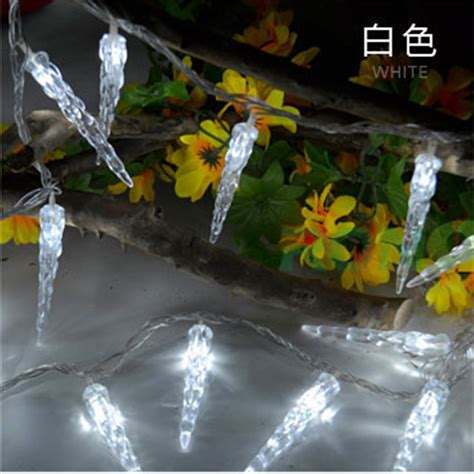 Battery Operated Outdoor Icicle Lights 3m 20 Led Lights Battery Operated Icicle Led String Lights For Outdoor Indoor