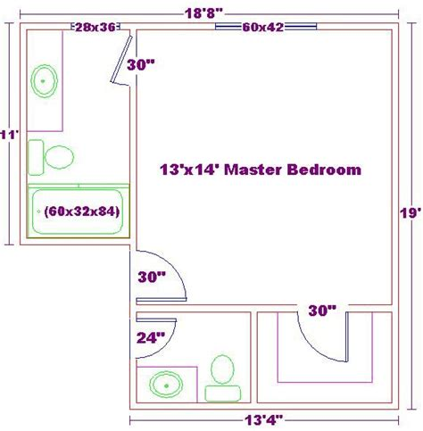 master bath floor plan except i see no need for his her master bedroom 13x14 ideas floor plan with master bath