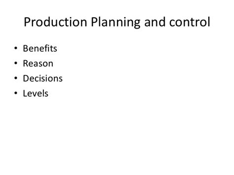 Product Controller Mba by Mba Ii Pmom Unit 1 2 Production Planning A