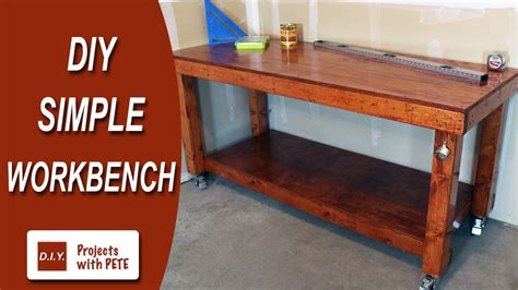 how to build a simple work bench diy simple workbench woodworking bench youtube