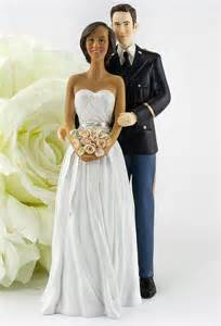 biracial wedding cake toppers army wedding cake topper american and caucasian groom