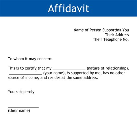 south affidavit template disability pension sahf