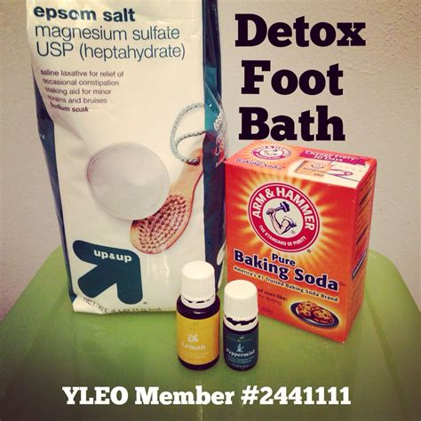 Foot Detox by Detox Foot Bath With Living Oils I Use Lemon