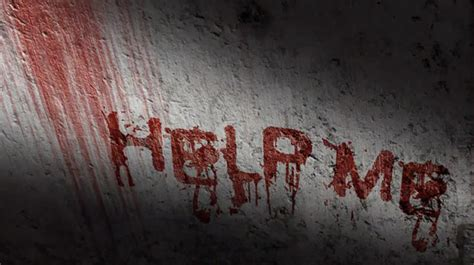 adobe photoshop horror tutorial scary blood text effect with wall scrawled with blood