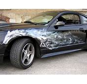 Automotive Art &amp Design Airbrush On Mustang Car