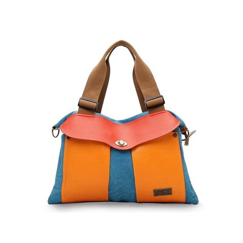 Transitions Color Block Handbag by Canvas Color Block Handbag 5268 Canvas Color