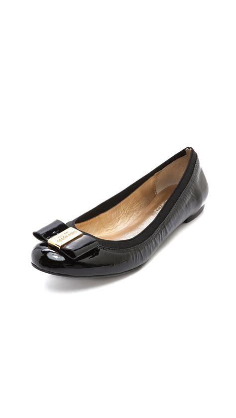 kate spade flat shoes kate spade tock ballet flats in black lyst