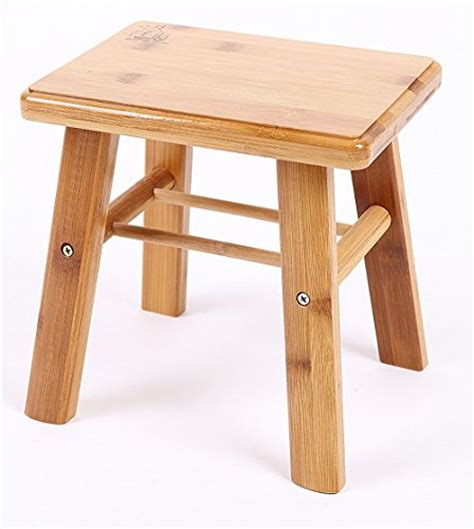 7 Inch Step Stool by Yofan Antique Children Bamboo Stool Square Step Stool
