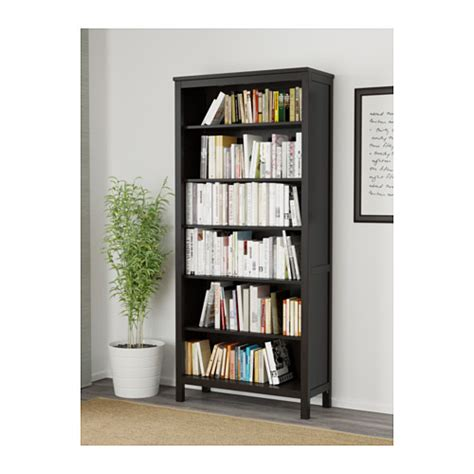 hemnes bookcase black brown 90x197 cm ikea