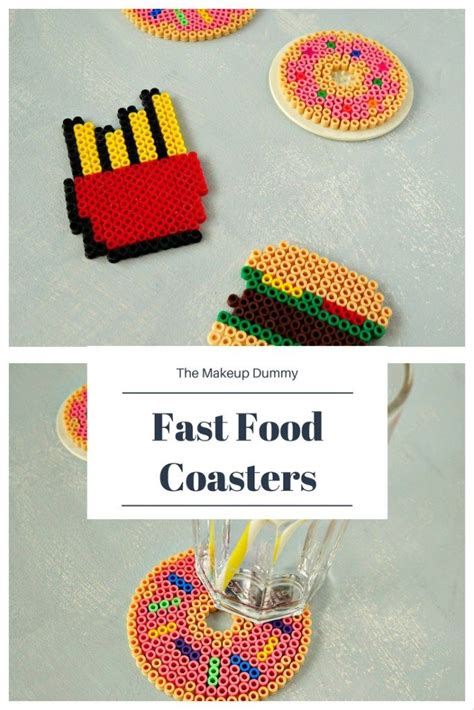 diy food crafts best diy crafts ideas diy fast food perler bead coasters for summer how to tutorial by the
