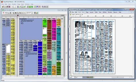 Layout Quark | indesign or quarkxpress page layout beacon miles33