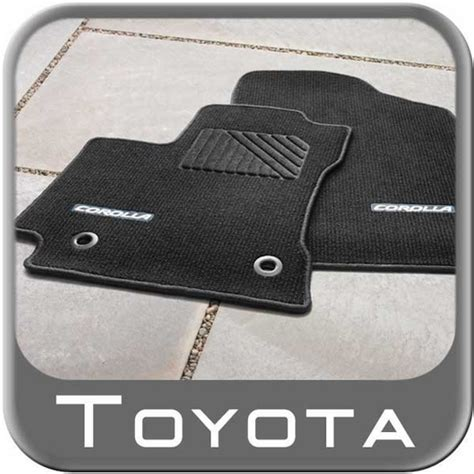 Toyota Corolla S Floor Mats by 2014 2015 Toyota Corolla Carpeted Floor Mats Black W Blue