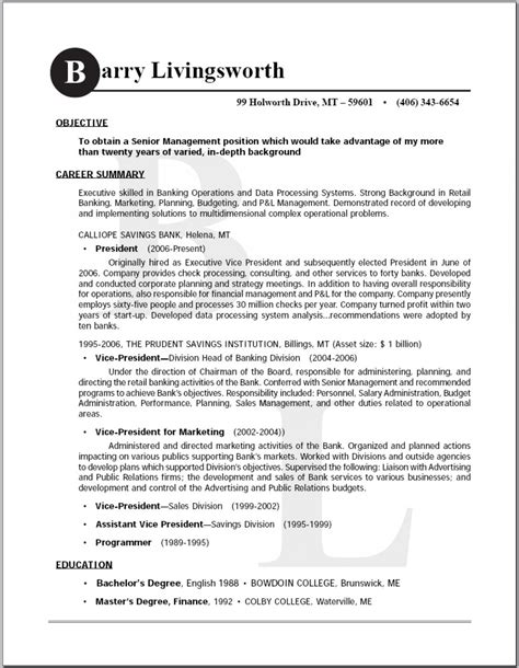 exle resume exle resume names that stand out