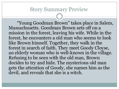 themes young goodman brown young goodman brown 3