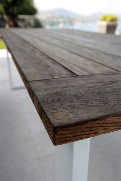 piani per tavoli da esterno tavolo da pranzo con piano in legno per esterno idfdesign