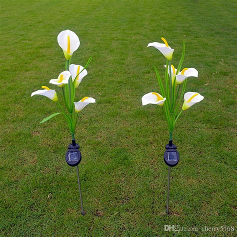 2017 Calla Lilies Solar Lights Outdoor Garden Solar Lawn Outdoor Decorative Solar Lights