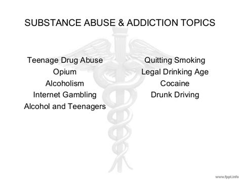 Substance Abuse Detox Topics research paper topics