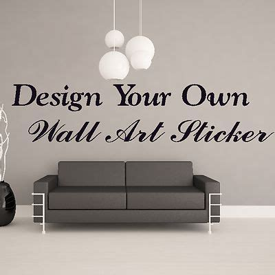 custom vinyl wall murals design your own personalised custom wall sticker quote