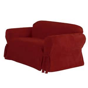 target sofa slipcovers sure fit soft suede loveseat slipcover target
