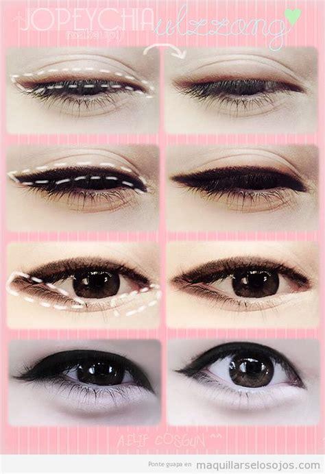 tutorial makeup cute ala korea maquillaje los ojos estilo coreano ulzzang paso a paso