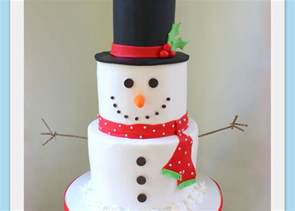 Simple Christmas Home Decorating Ideas tiered snowman cake video tutorial by my cake school my