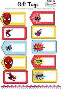 spider man gift tags spiderman gift tags free printable ideas family shoppingbag