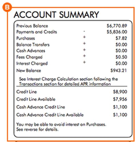 Visa Gift Card Statement - how to read a credit card statement discover