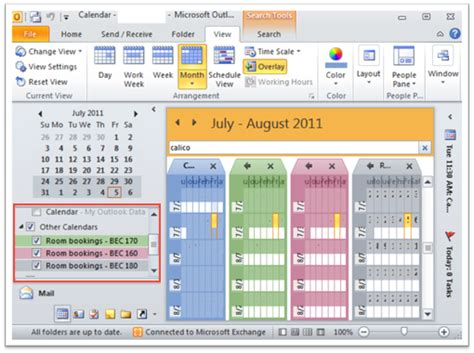 change calendar layout in outlook 2010 customize calendar views outlook 2010 and 2013