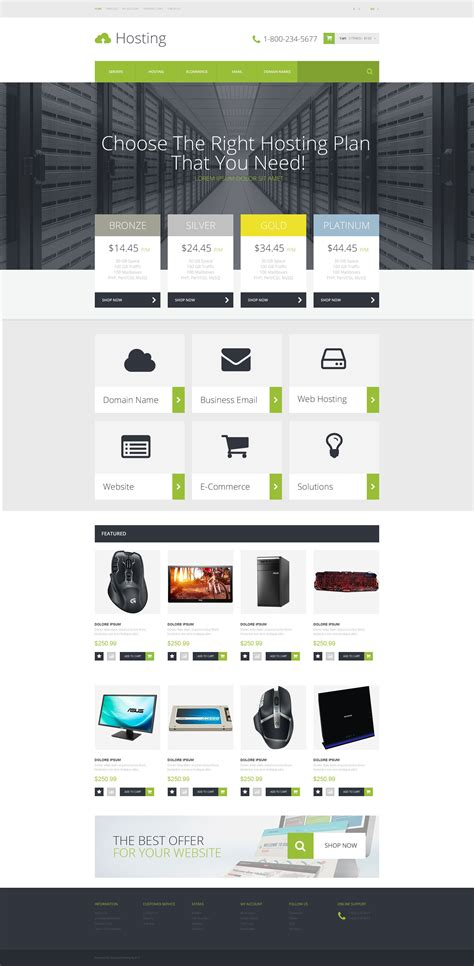 hosting templates hosting provider opencart template 53161