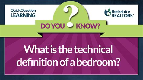 what is the definition of a bedroom what is the technical definition of a bedroom
