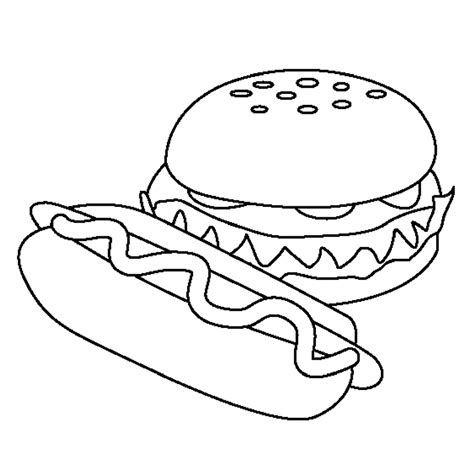food coloring pages food hamburger models food coloring pages